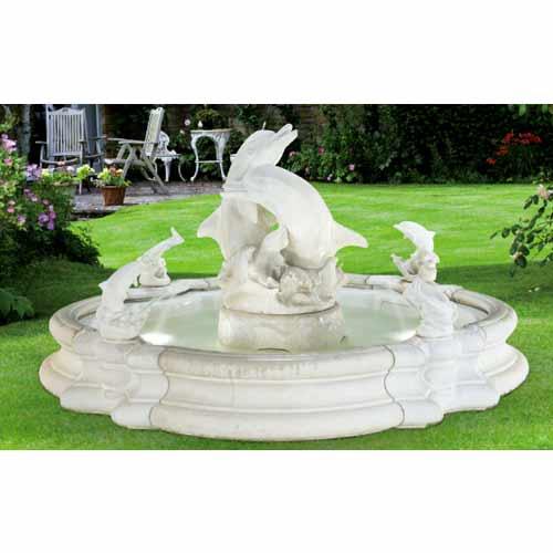 Henri Studio Grande Millennia Dolphin Fountain 5022f15