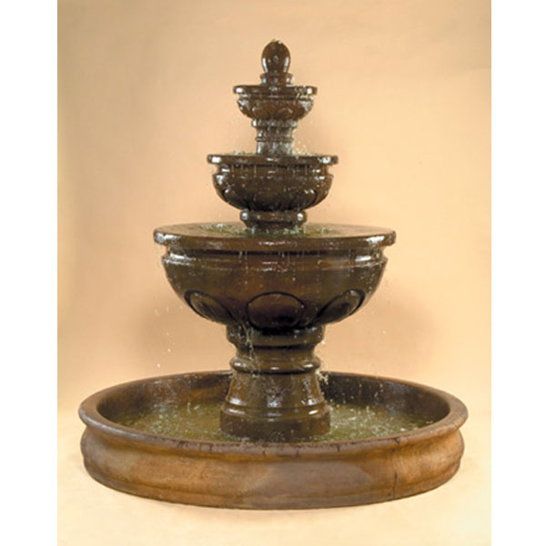 Outdoor Baroque Fountain With Basin Water Feature Pros