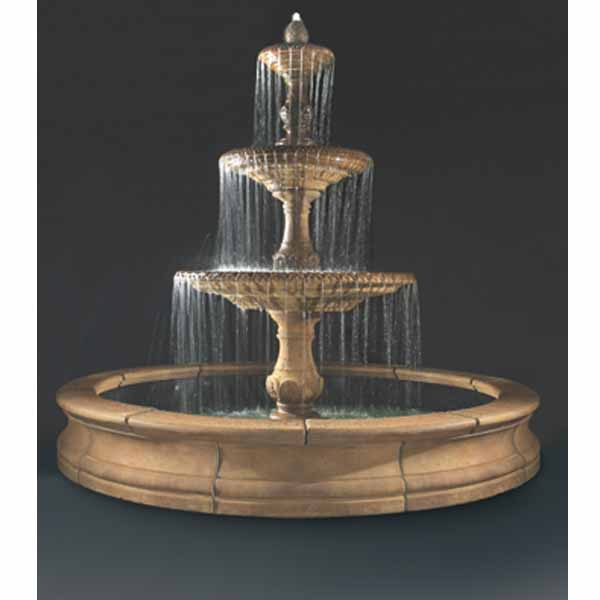 Outdoor Four Seasons Fountain With Bracci Basin Water Feature Pros