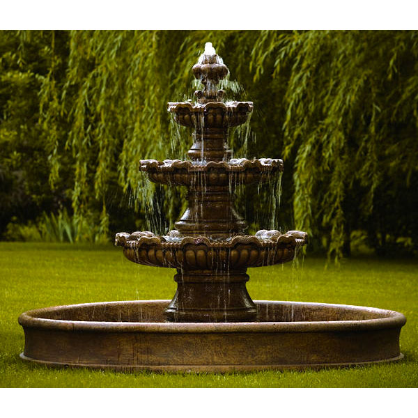 Massarelli Three Tier Renault Fountain On 8 Pool 3668
