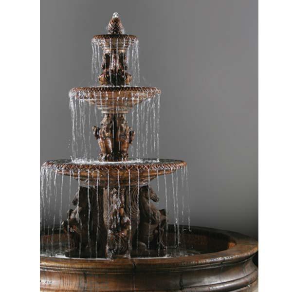 Outdoor 3 Tier Cavalli Garden Fountain With 16 Basin
