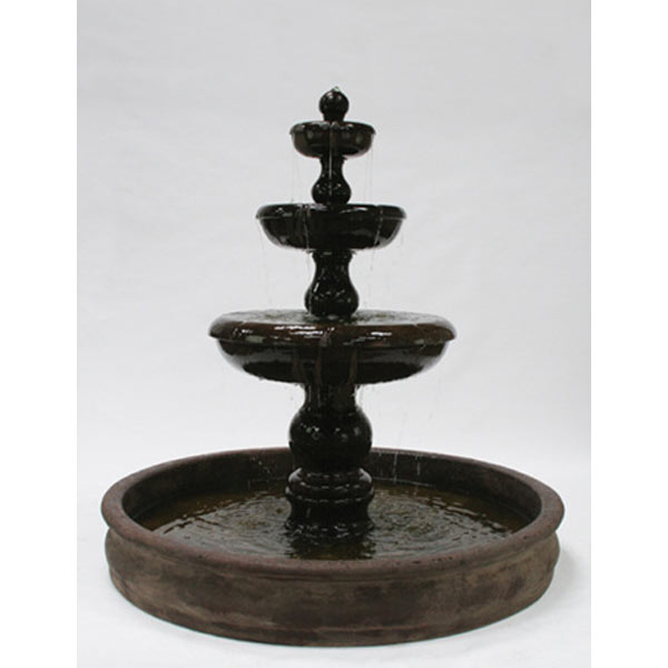 Outdoor Classic 3 Tier Stone Fountain With 74 Basin Water Feature Pros