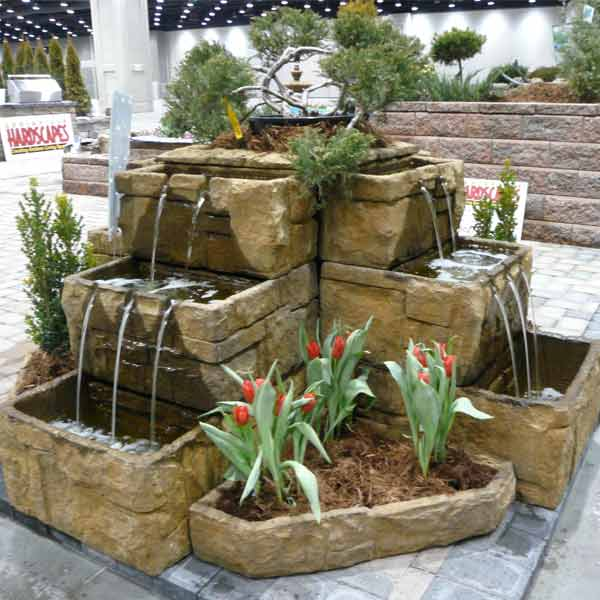 Fiore Courtyard Cascade Fountain 2121 Fp Free Shipping
