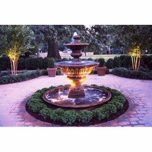 outdoor large formal garden fountain with basin water. Black Bedroom Furniture Sets. Home Design Ideas