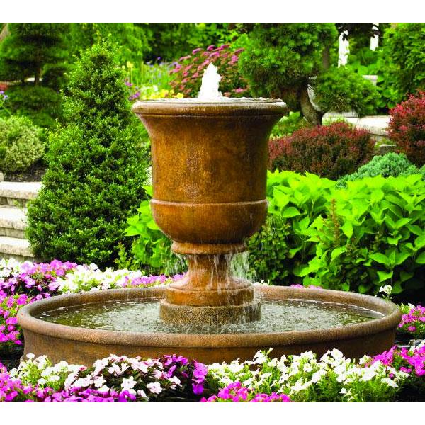 Massarelli Cento Urn Fountain On 6 Fiberglass Pool 3704