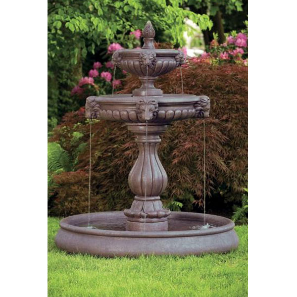 Outdoor Classic Lion Head Fountain With Pool