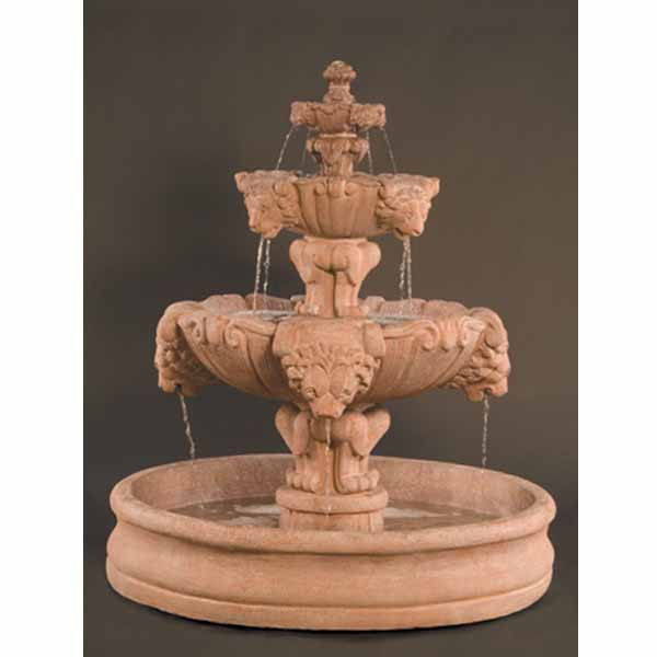 Outdoor Lion Fountain With Basin Water Feature Pros