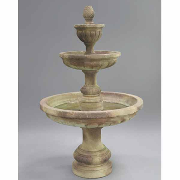 Mediterranean Exterior Of Home With Pathway Fountain: Fiore Three Tier Mediterranean Fountain LG134-F FREE SHIPPING