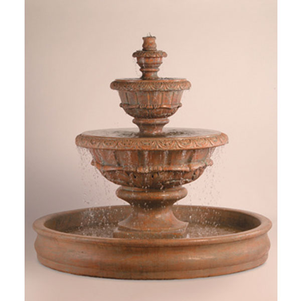 Outdoor Roma Fountain With Basin Water Feature Pros
