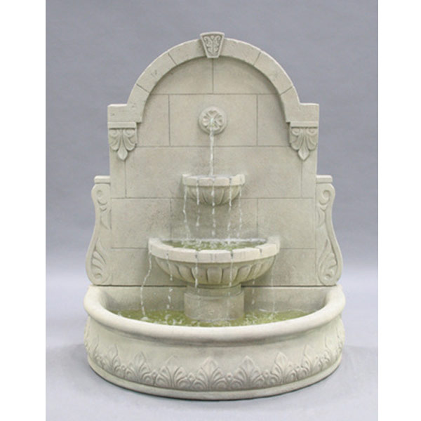Outdoor bavarian wall fountain for Outdoor wall fountains