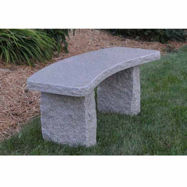 Outdoor Curved Gold Granite Bench
