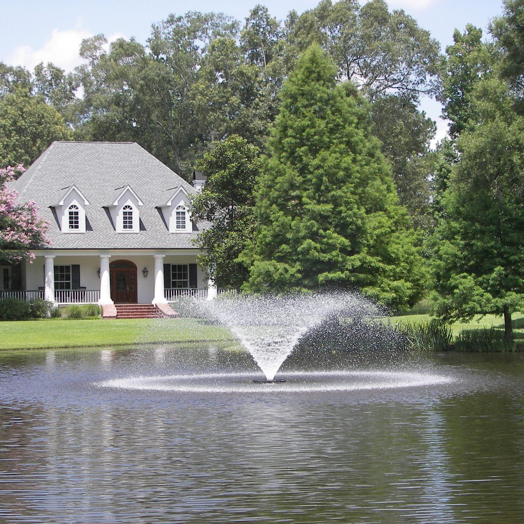 Lake fountains application guide for Pond feature ideas