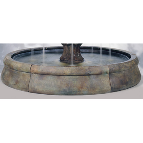 Outdoor Crested Fountain Basin System Water Feature Pros