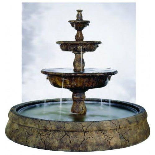 Outdoor Europa Fountain Basin System Water Feature Pros
