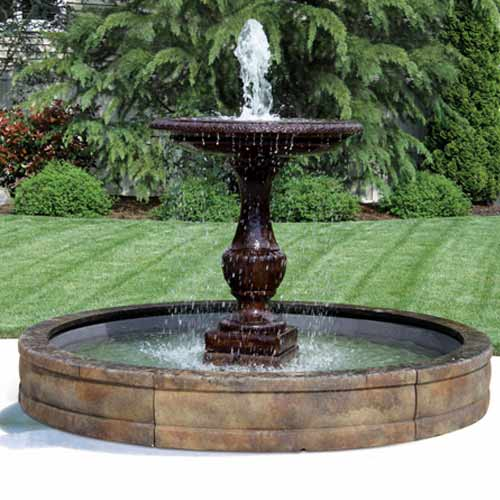 Outdoor Fiberglass Fountain Basin System 5 39 6 39 Or 8 39 Water Feature Pros