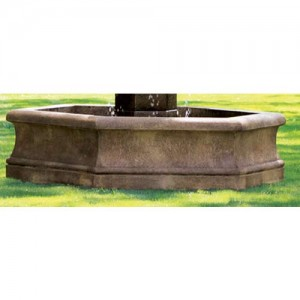 Outdoor 6 Hex Fountain Basin System Water Feature Pros