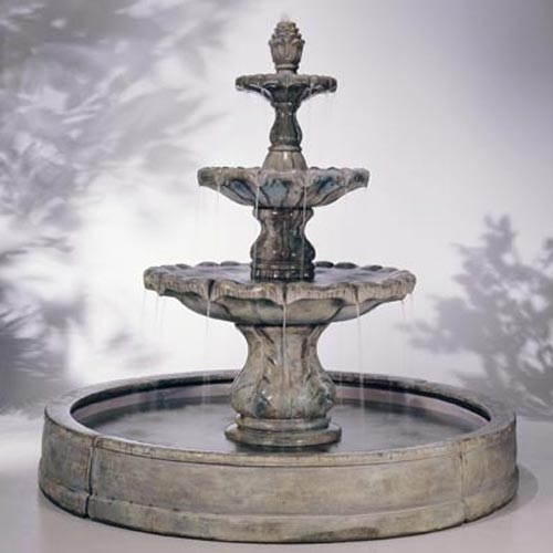 Outdoor Valencia Fountain Basin System Water Feature Pros