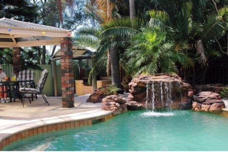 Key Largo Falls swimming pool waterfall kit