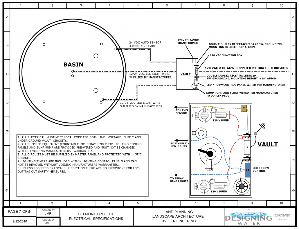 Belmont Fountain Project 10 120 Volt Led Light Wiring Diagram