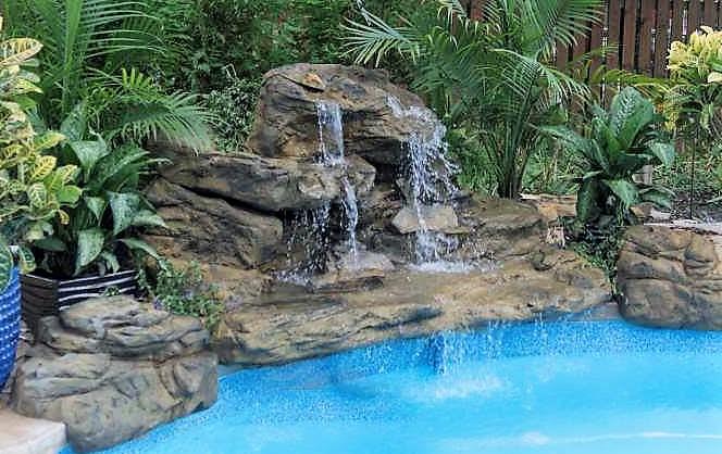 Bahama Falls Swimming Pool Waterfall Kit- FREE SHIPPING!