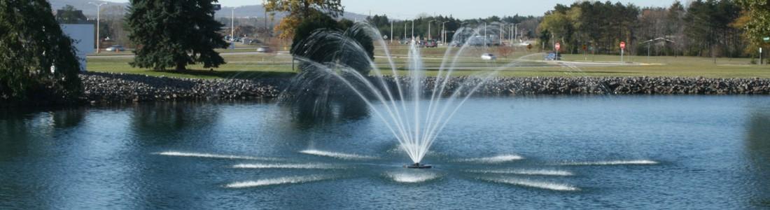 municipal pond and lakes