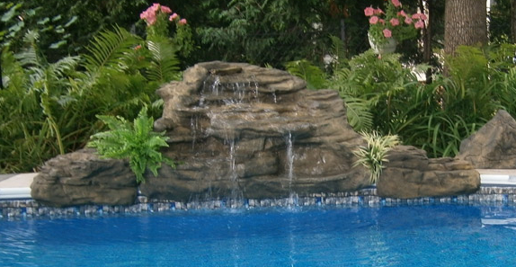 Roaring Fork Falls Swimming Pool Waterfall Kit- Free Shipping!