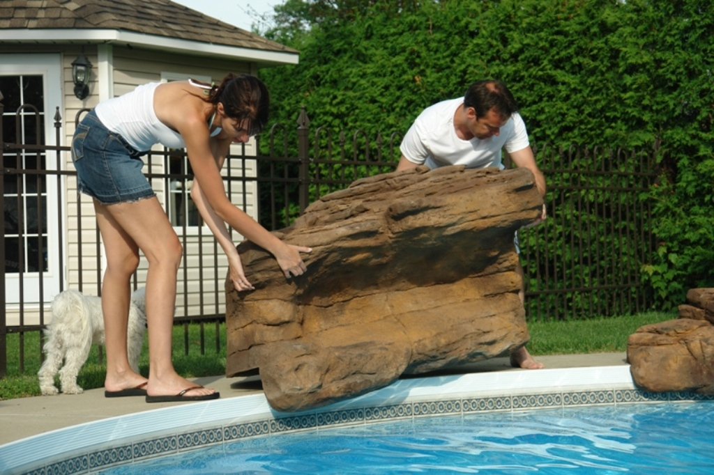 American falls do it yourself swimming pool waterfall kit - Swimming pool water fountain kits ...
