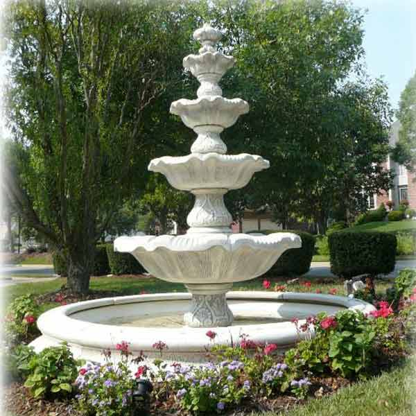 Henri Studio Four Tier Renaissance Fountain In Toscana