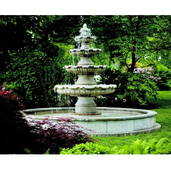 Outdoor Renault Extra Large Four Tier Fountain With Pool