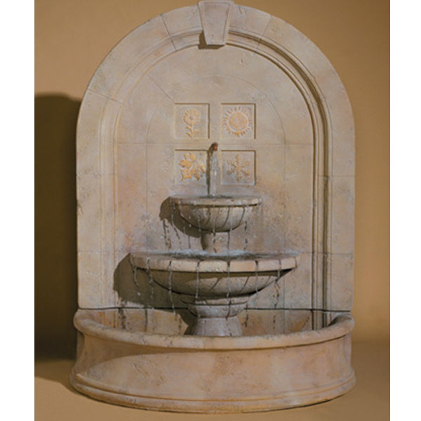 Outdoor seasons change wall fountain for Outdoor wall fountains
