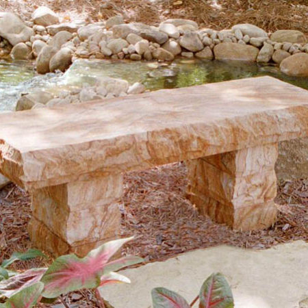 Stone Age Creations Copper Sandstone Bench BE-SS-1