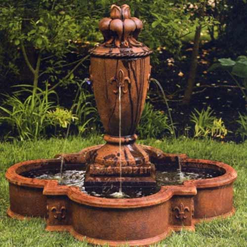 43 Fleur De Lis Vase Fountain