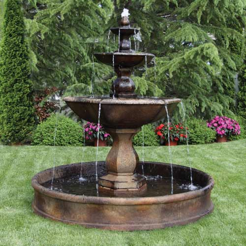 Outdoor 6 Fountain Basin System