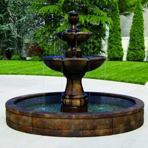 Fiberglass Fountain Pool Basin System 5 6 Or 8
