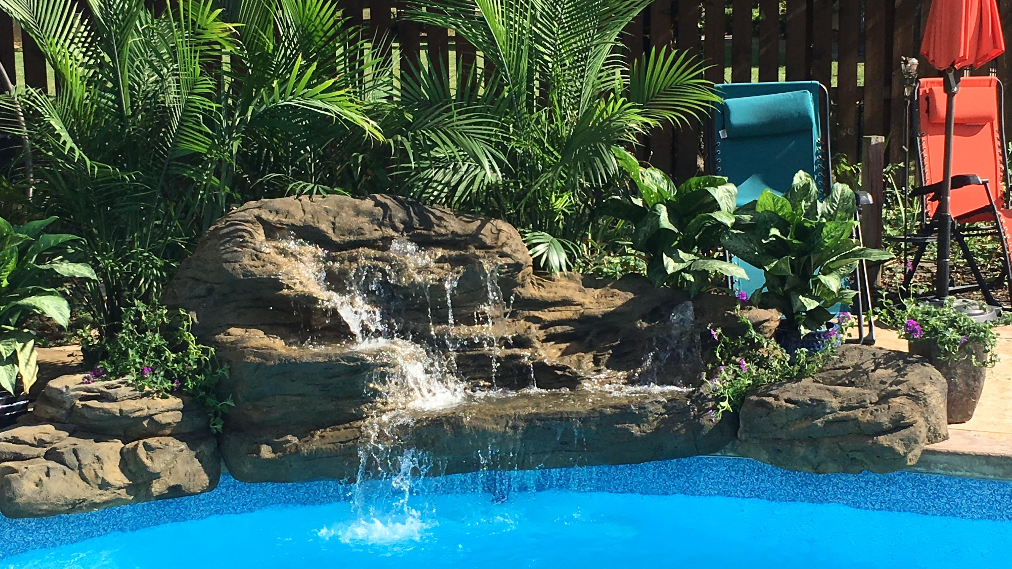 Tranquil Falls Swimming Pool Waterfall Kit- FREE SHIPPING!
