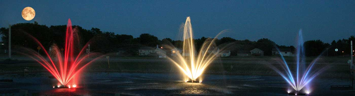 LED Lake Fountain Lighting