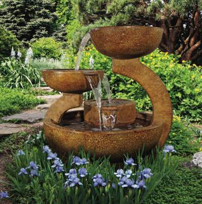 Henri Zen Three Bowl Fountain 4033F2