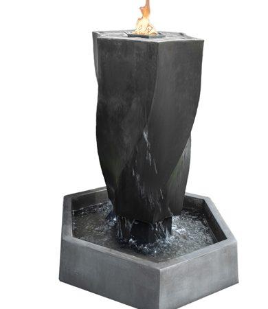 Vortex Fountain with Fire