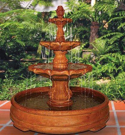 Classical Finial Fountain in Grando Pool